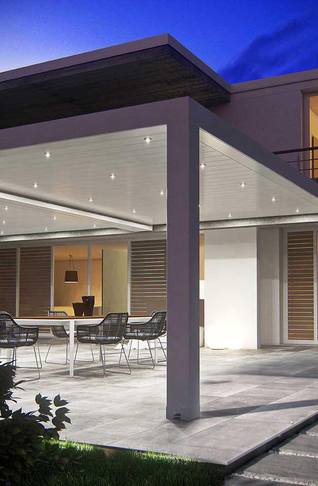 bioklimatická pergola s LED osvetlením