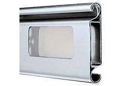 Dvojstenný hliníkový profil 4020 s presklením, rolovacie brány