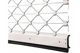 Tvar hliníkových rolovacích mreží kosoštvorcového tvaru TG-X pre rolovacie mreže Teckentrup
