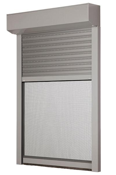 Exteriérová pred okenná roleta s integrovanou sieťou proti hmyzu